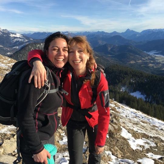 Frauen im Gebirge