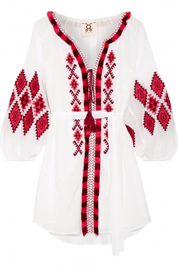 Tunika weiß rot