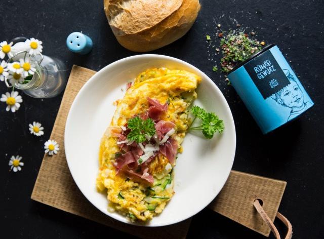 Zucchini-Schinken-Omelett