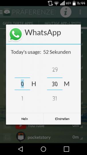 Mental-App: Digitale Waage