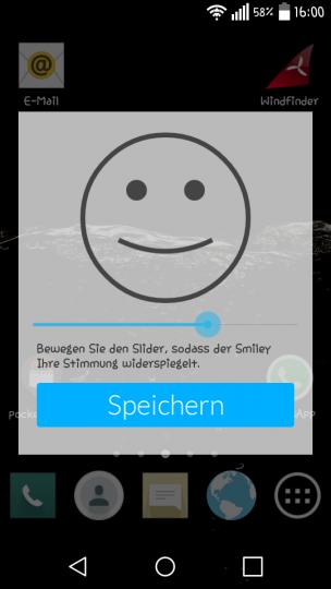 Mental-App: Fröhlichkeitsabfrage