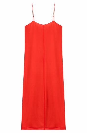 rotes kurzes Spaghettiträger Kleid