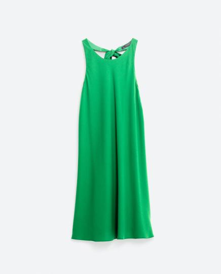 grünes kurzes Kleid