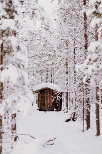 Hütte in Lappland