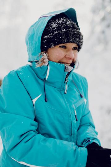Kristina Appel in Lappland