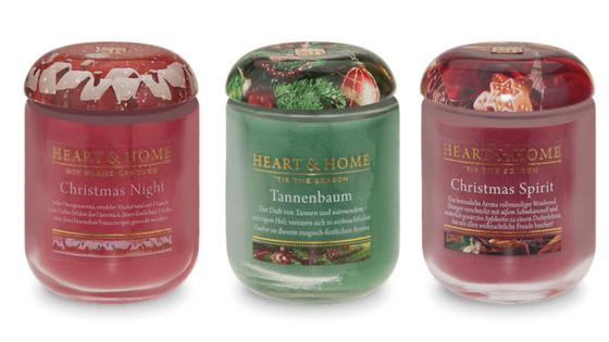 Weihnachtsduftkerzen Heart&Home