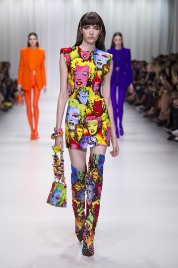 Versace Pop-Art Print Kleid ärmellos