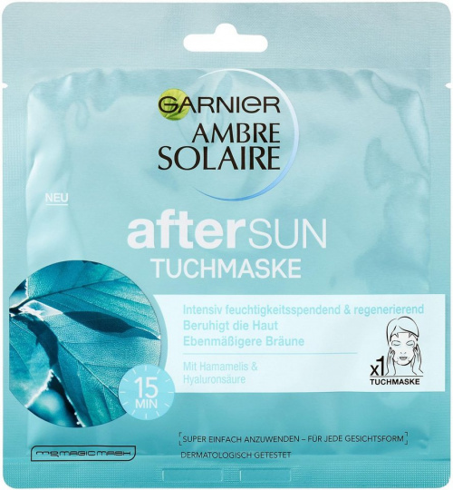 """""""Ambre Solaire Aftersun Tuchmaske"""" von Garnier"""