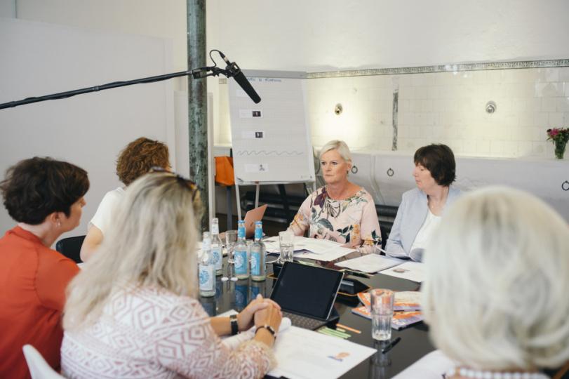 Heike Langguth bei der Jurysitzung