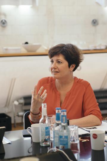 Kerstin Heiligenstetter bei der Jurysitzung