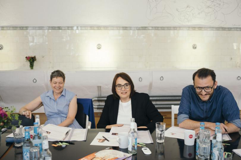 Dr. Petra Bock bei der Jurysitzung des Awards