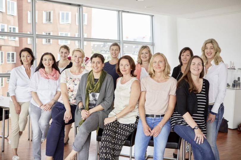 Teilnehmer beim Shiseido-Workshop