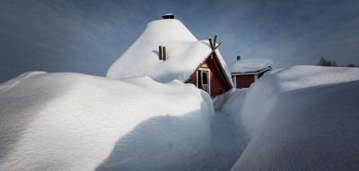 Schneehütte Lappland
