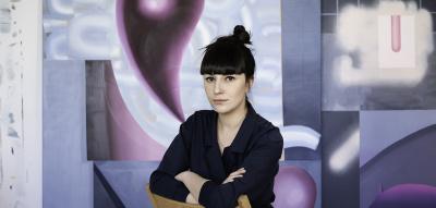 Anna Nero in ihrem Atelier