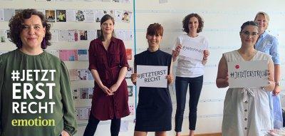 EMOTION Aktion #jetzterstrecht: Für mehr Gleichberechtigung