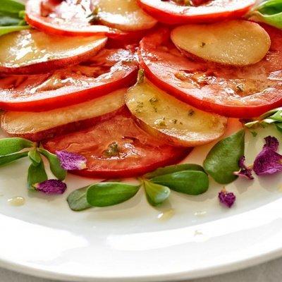Nektarinen-Tomaten-Salat