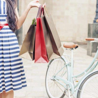 Sommerkleid Sale Shopping Fahrrad