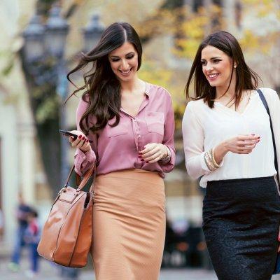 Frauen Spaziergang