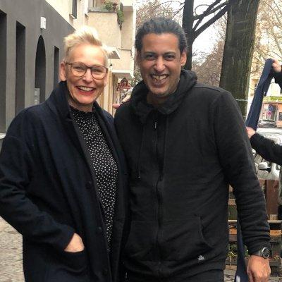 Bärbel Schäfer und Abbas Khider