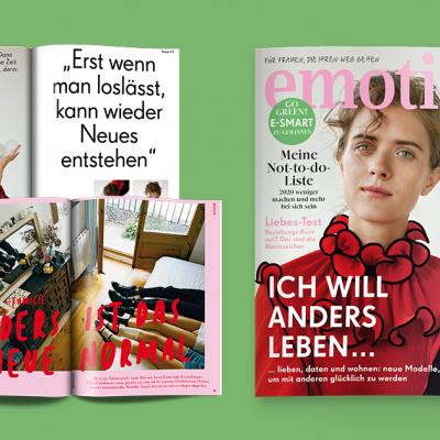EMOTION Pressebereich: Alles über die Zeitschrift EMOTION