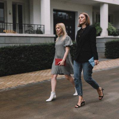 Annika Brix und Ewelina Feil auf der Fashion Week Berlin