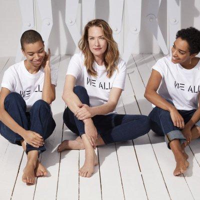 Tatjana Patitz mit den Gründerinnen Corinna und Theresa Williams